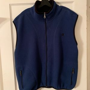 Vintage Champion Fleece Vest Sz L